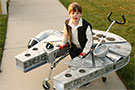 Han Solo Costume for Child with Cerebral Palsy